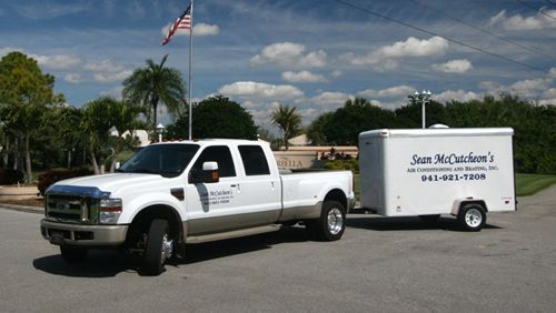 Sean McCutcheon's Air Conditioning and Heating Sarasota Truck