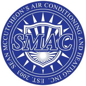 Sean McCutcheon's Air Conditioning Logo - Blue and White
